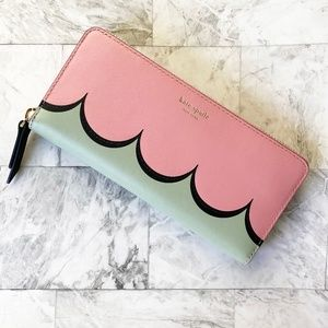 NEW Kate Spade Intarsia leather continental wallet